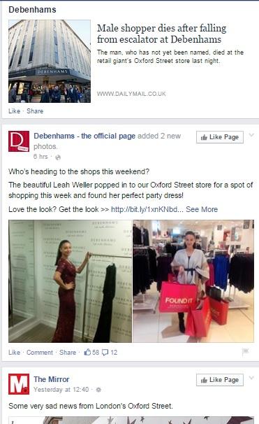 Debenhams Facebook